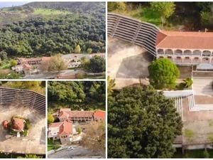 H Ιερά Μονή Αγίου Νικολάου Σπάτα από ψηλά (video)