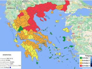 Κορωνοϊός: Άλλαξε ο επιδημιολογικός χάρτης - Στο κόκκινο όλη η Βόρεια Ελλάδα