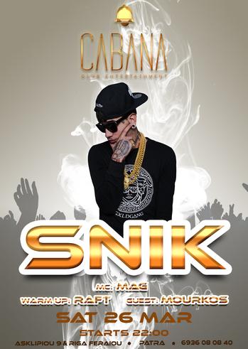 Snik Vs Spiros Mourkos at Cabana Club