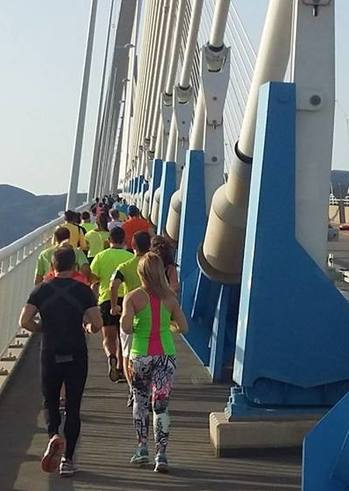 Ομαδική προπόνηση ΣΔΥ Πάτρας στη Γέφυρα Ρίου-Αντιρρίου