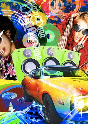 Disco party back to the 80ies στην Πλαζ