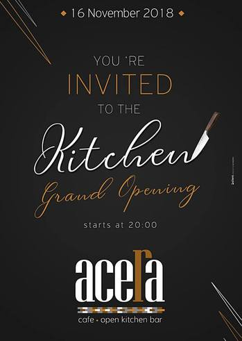 You are invited to the Kitchen - Grand Opening at Acera