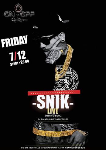 Snik live at On - Off