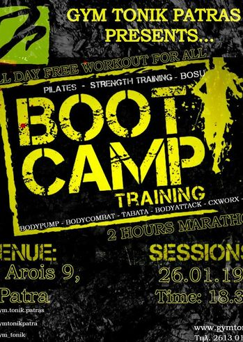Bootcamp Training Fitness Event at Gym Tonik