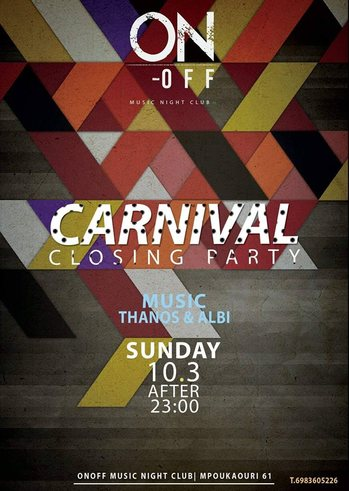 Sunday Carnival Closing Party at On - Off