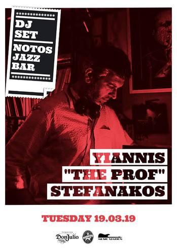 """Yiannis """"The Prof"""" Stefanakos DJ Set at Notos Jazz Bar"""