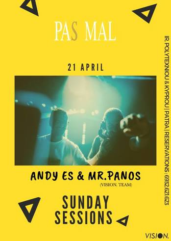 Mr. Panos & Andy Es - Sunday Sessions at Pas Mal