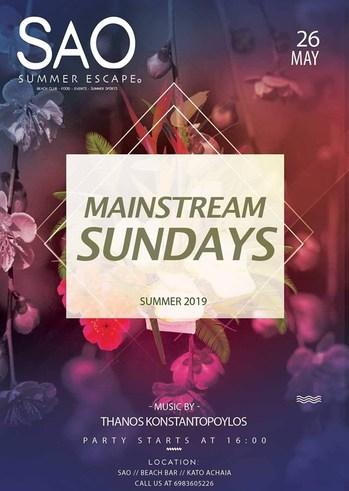 Mainstream Sundays at Sao Beach Bar