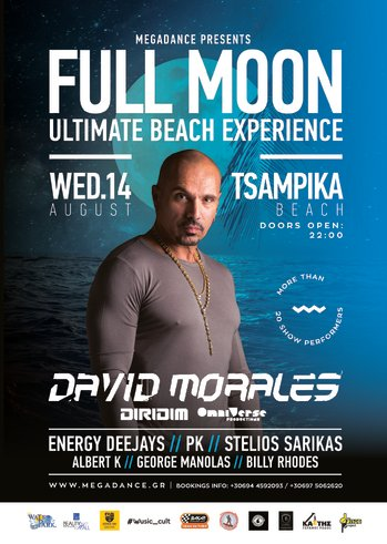 Full Moon Ultimate Beach Experience at Tsampika Beach