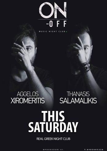 Aggelos Xiromeritis & Thanasis Salamalikis at On - Off Μόνο Ελληνικά