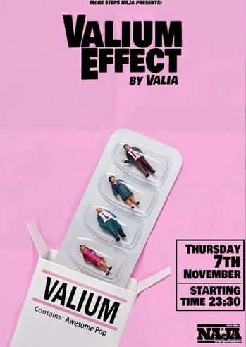 Valium Effect at More steps Naja