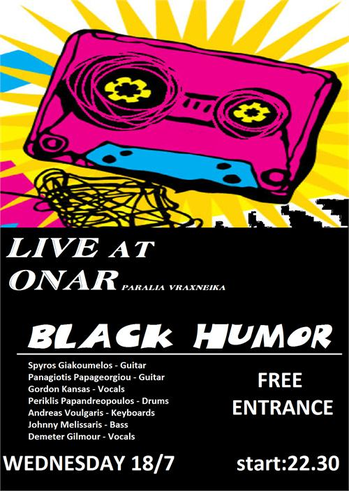 BLACK HUMOR LIVE at ONAR bar