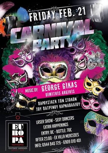 The first carnival party @ Europa