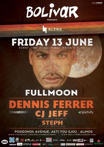 Full Moon Party With Dennis Ferrer @ Bolivar Beach Bar