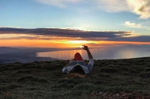 Αγγίζοντας τον ήλιο στο Παναχαϊκό όρος της Πάτρας