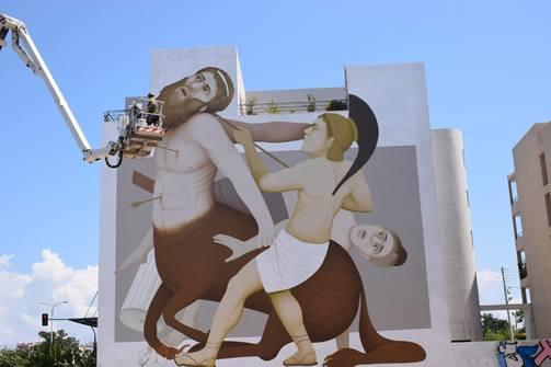 Το mural του κτιρίου της ΠΔΕ στην Πάτρα και ο μύθος του μέσα από την Ομήρου Οδύσσεια (pics)