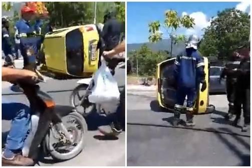 Πάτρα: Ανατροπή οχήματος στην Πατρών - Κλάους (video)