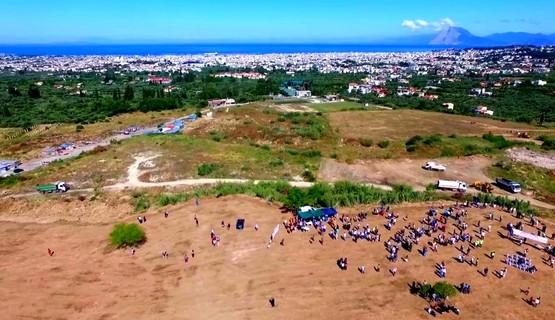 Πάτρα: Η διαμόρφωση του χώρου στον Ριγανόκαμπο από... ψηλά (video)