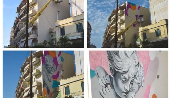 Πάτρα - Το mural 'Fingers Locked' από την 'σύλληψη' μέχρι τη 'γέννηση' του (video)