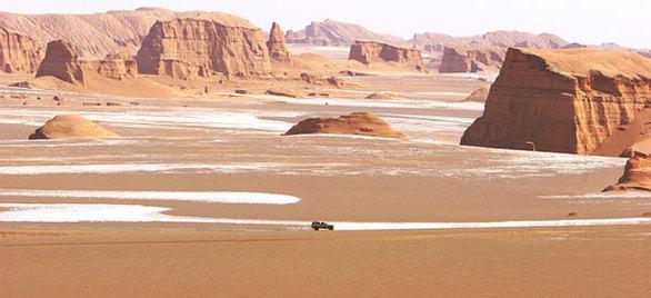 Έρημος Lut (Ιράν) Μεγαλύτερη θερμοκρασία: 71°C