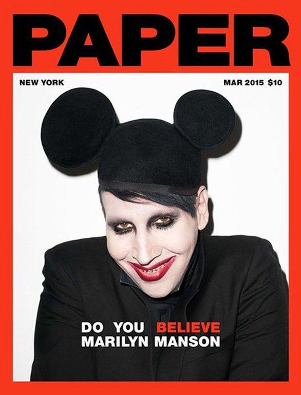 Ο Marilyn Manson σε μια ανατρεπτική φωτογράφιση με τον... πατέρα του (pics)