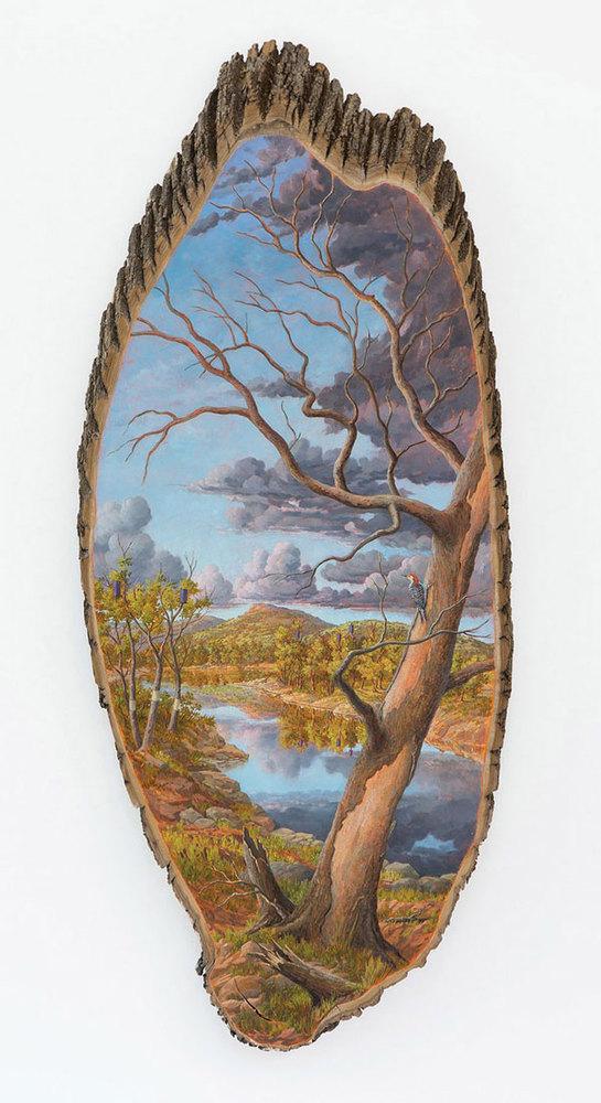 Όταν οι κομμένοι κορμοί δέντρων χρησιμεύουν ως καμβάδες ζωγραφικής! (pics)