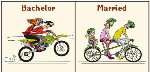 Αστεία σκίτσα που δείχνουν την καθημερινότητα ενός άνδρα πριν και μετά τον γάμο (pics)