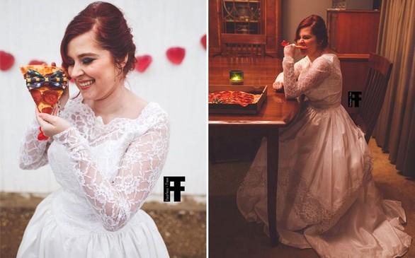 Γυναίκα παντρεύτηκε... μια πίτσα (pics)