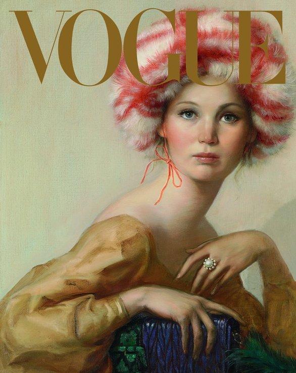 Το νέο εξώφυλλο της Jennifer Lawrence είναι ένα πορτρέτο ζωγραφικής! (φωτο+video)