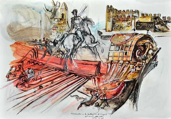 """Έκθεση Ζωγραφικής """"Ο Θερβάντες στη Ναυμαχία της Ναυπάκτου"""" στο Art Lepanto"""