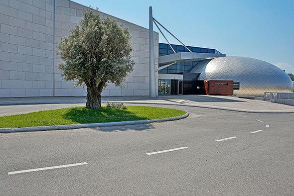 Το νέο Αρχαιολογικό Μουσείο της Πάτρας. Ξεχωρίζει ο θόλος, που είναι επενδεδυμένος με φύλλα τιτανίου. (Φωτογραφία: ΝΙΚΟΣ ΚΟΚΚΑΣ)