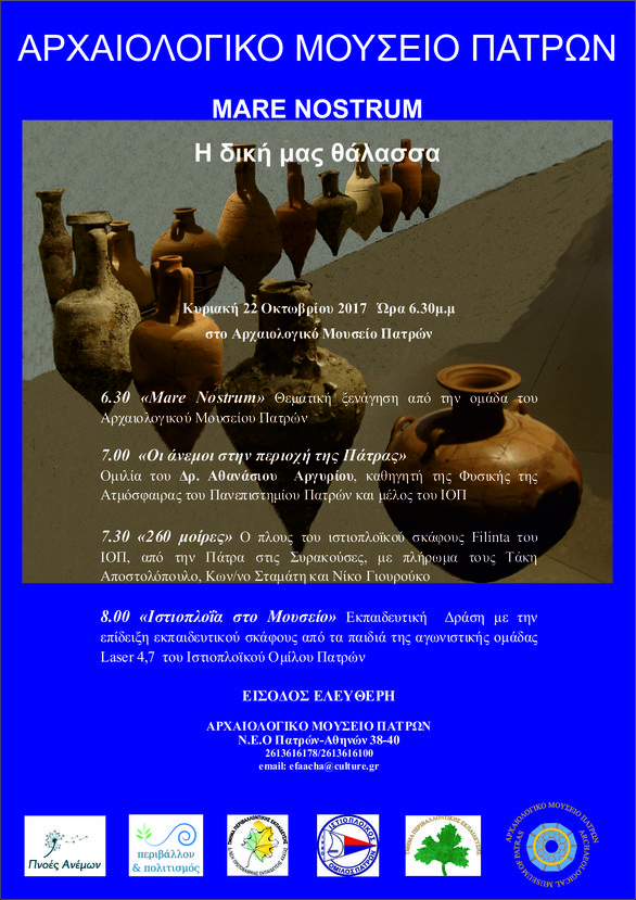"""Mare Nostrum"" στο Αρχαιολογικό Μουσείο Πατρών"