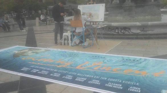 Εντυπωσίασε η εικαστικός Πολίνα Μαυρικάκη στην Πλατεία Γεωργίου της Πάτρας (pics)
