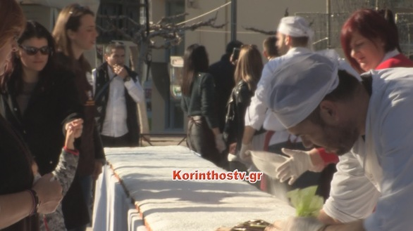 Κιάτο: Βασιλόπιτα για ρεκόρ Γκίνες (pics+video)
