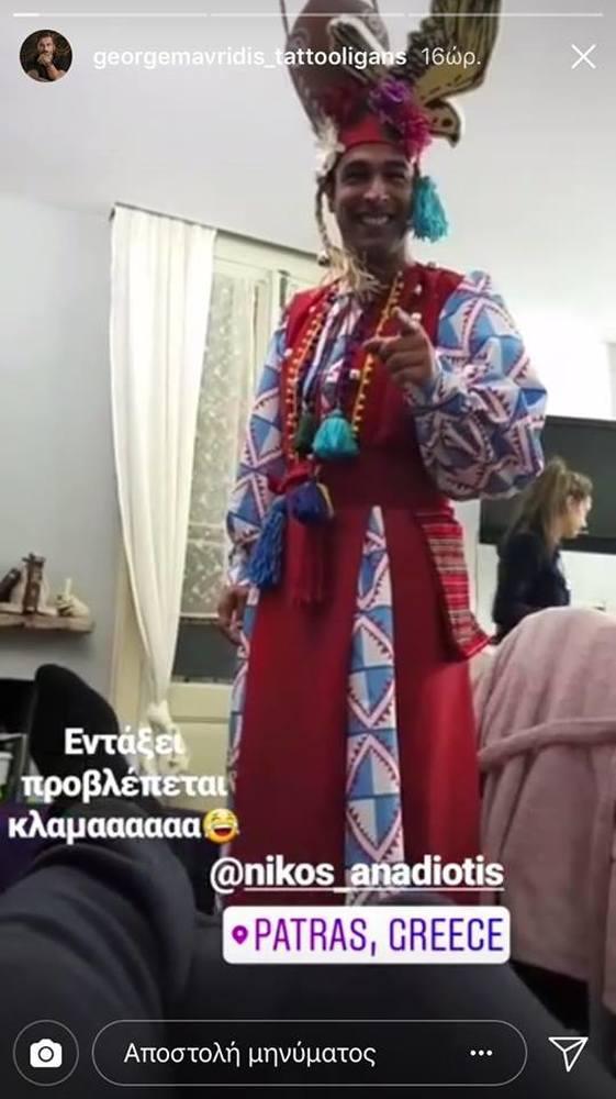 Στην Πάτρα ο Γιώργος Μαυρίδης - Καρναβαλίζεται με τον φίλο του, Νίκο Αναδιώτη (φωτο+video)