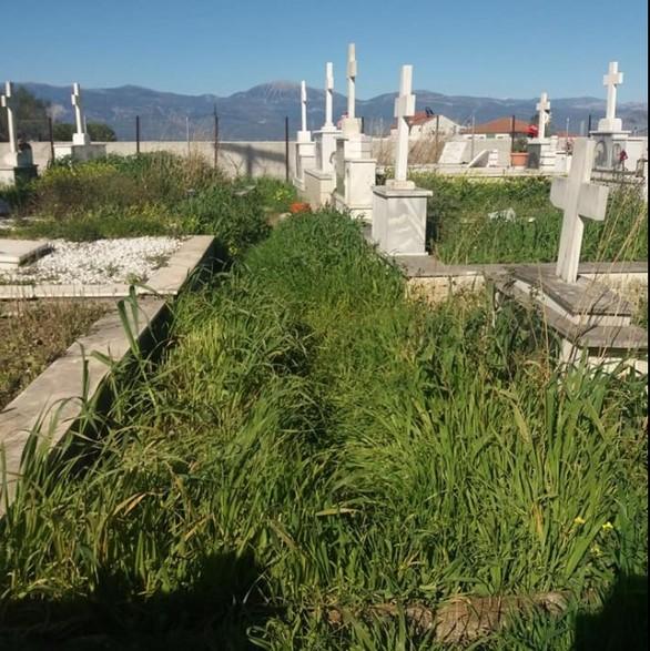 Αιγιάλεια: Εικόνες εγκατάλειψης στο κοιμητήριο της Ροδοδάφνης (pics)