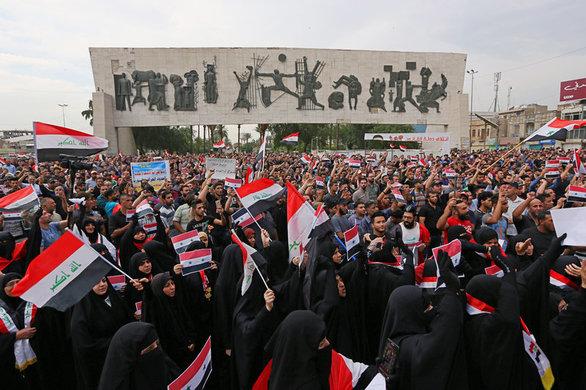 Ιρακινοί έκαψαν σημαία των ΗΠΑ (φωτο)