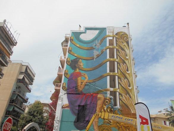 """Πάτρα - Απόψε τα """"αποκαλυπτήρια"""" της εντυπωσιακής τοιχογραφίας της Γούναρη (pics)"""