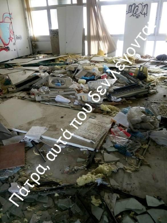 """12+1 εικόνες ντροπής από το κτίριο """"οχετό"""" της Πάτρας!"""