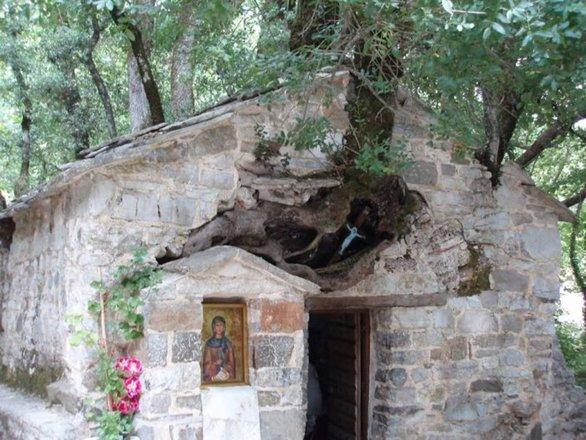 Το μικρό εκκλησάκι της Πελοποννήσου με τα 17 πλατάνια στη στέγη του (pics+video)