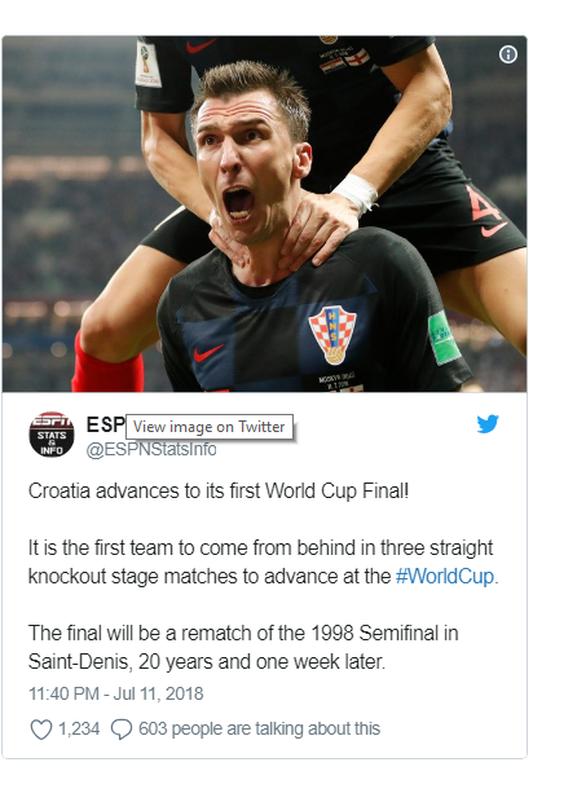Μουντιάλ 2018: Οι Κροάτες έγραψαν ιστορία