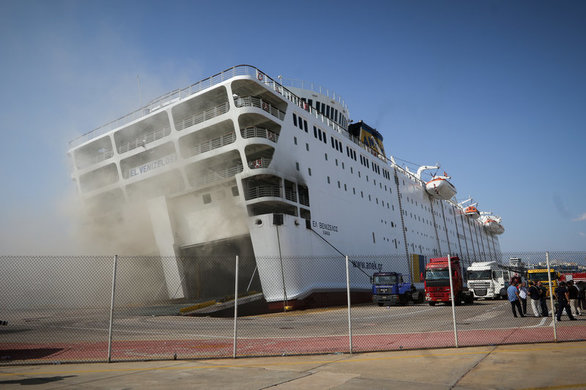 """Μεγάλη κλίση έχει πάρει το πλοίο """"Ελευθέριος Βενιζέλος"""" (φωτο)"""