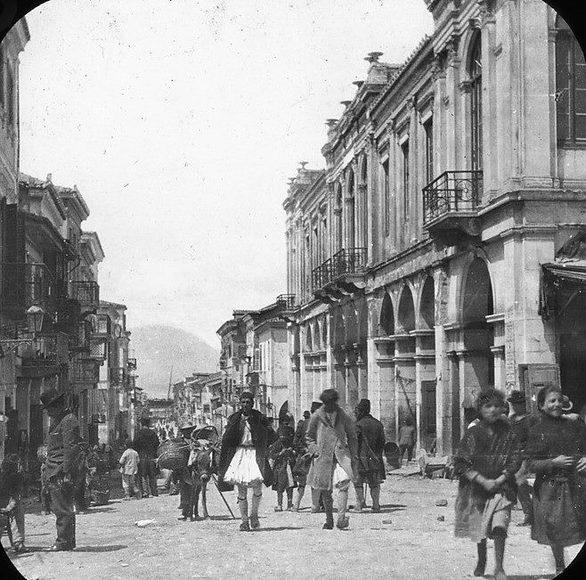 Πάτρα - Η οδός Αγίου Νικολάου το 1893