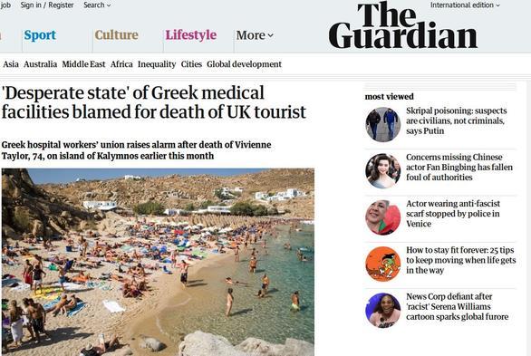 Guardian: Στο έλεος του Θεού οι τουρίστες στην Ελλάδα