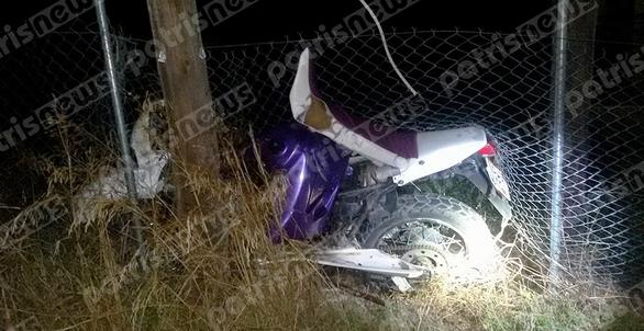 Hλεία: Ξεψύχησε σε τροχαίο 21χρονος οδηγός μηχανής
