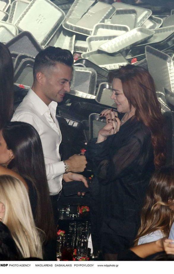 Η Lindsay Lohan διασκέδασε στον Κωνσταντίνο Αργυρό (φωτο)