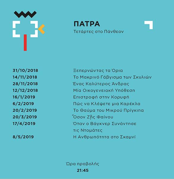 Το CineDoc Φεστιβάλ Ντοκιμαντέρ Πάτρας ξεκινάει!