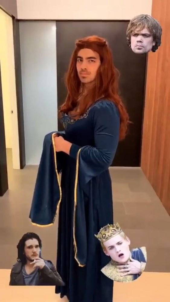 O Joe Jonas μεταμφιέστηκε σε... Sansa Stark από το Game of Thrones (φωτο)