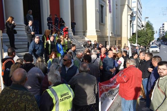 Πάτρα - Η Δημοτική Αρχή στο πλευρό των παρατασιούχων εργαζομένων