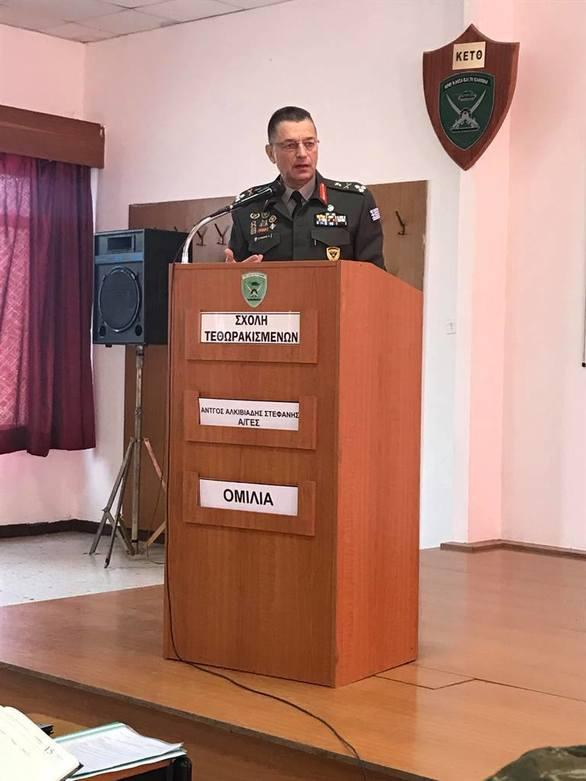 Επίσκεψη Αρχηγού ΓΕΣ στη Σχολή Τεθωρακισμένων (pics)